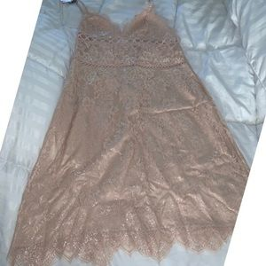 Victoria Secret Sexy Rose Gold Night Gown